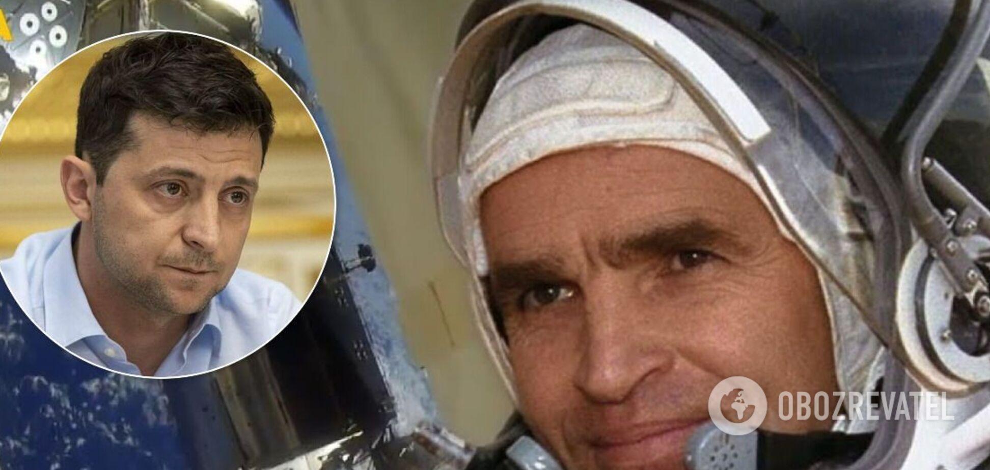 Зеленський пообіцяв внести особисті кошти на пам'ятник першому українському космонавту Каденюку