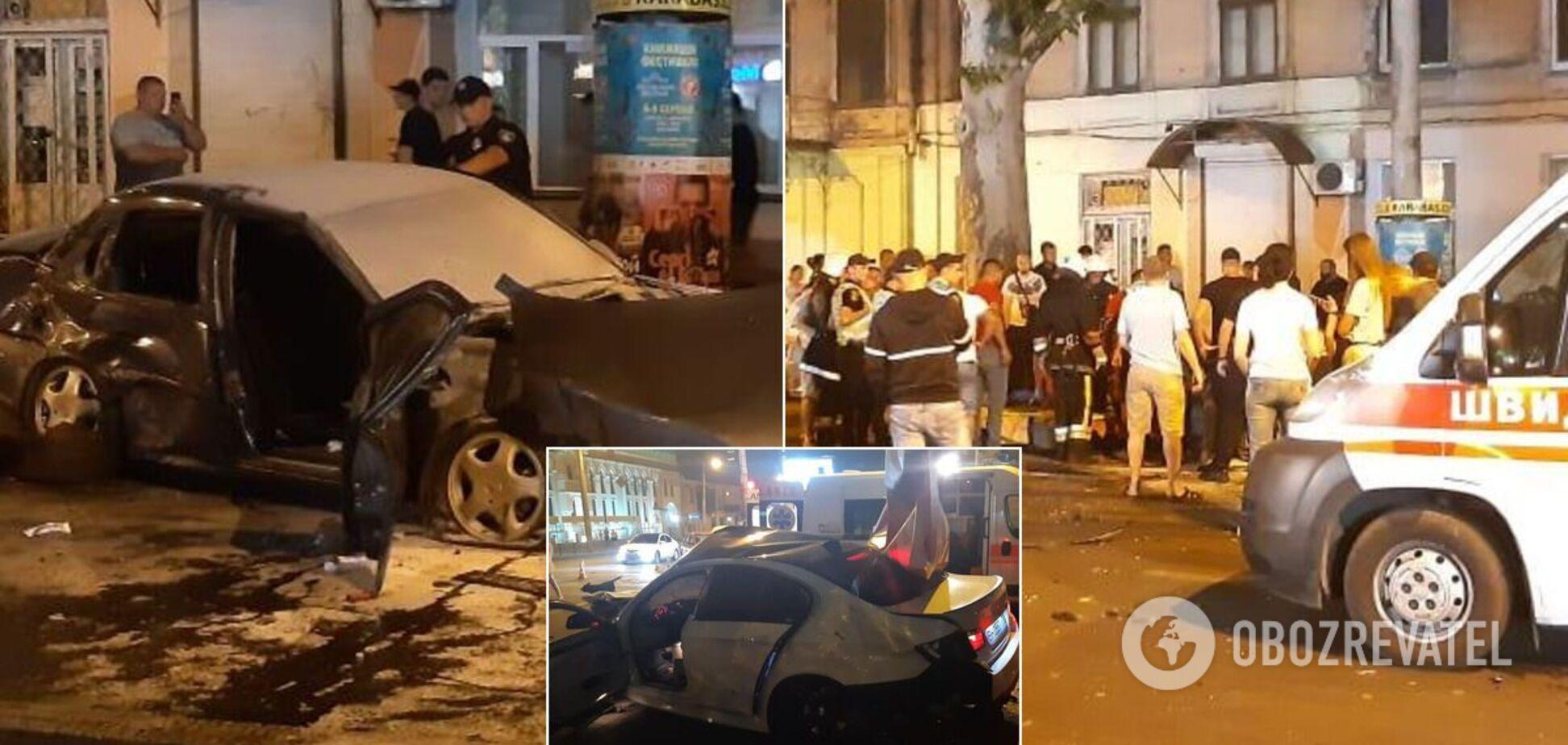 В центре Одессы произошла масштабная авария