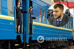 Криклий заявил об увольнении начальника поезда и всех проводников после скандала с попыткой изнасилования Анастасии Луговой