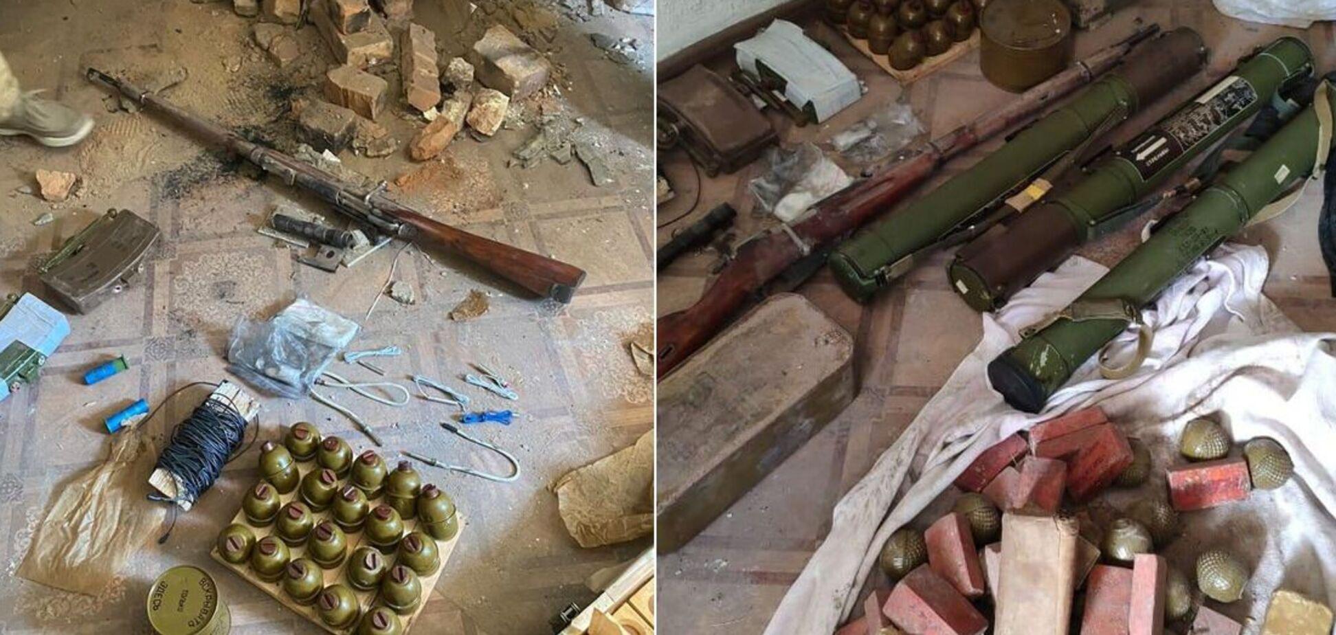 СБУ виявила на Донбасі схрон з боєприпасами та вибухівкою