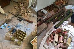 СБУ обнаружила на Донбассе схрон с боеприпасами и взрывчаткой