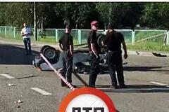 Под Киевом авто после ДТП разорвало на куски, водитель погиб