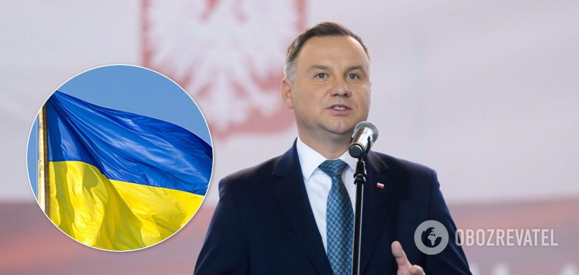 Дуда на инаугурации вспомнил Украину: пообещал остановить войну на Донбассе