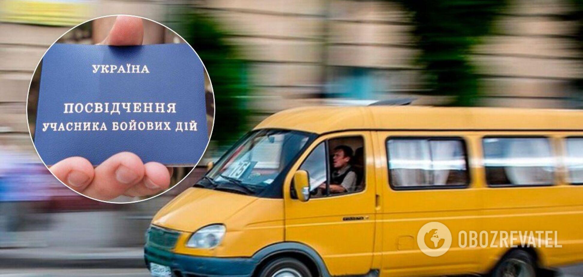 В Днепре маршрутчик отказал ветерану АТО в бесплатном проезде. Фото и видео