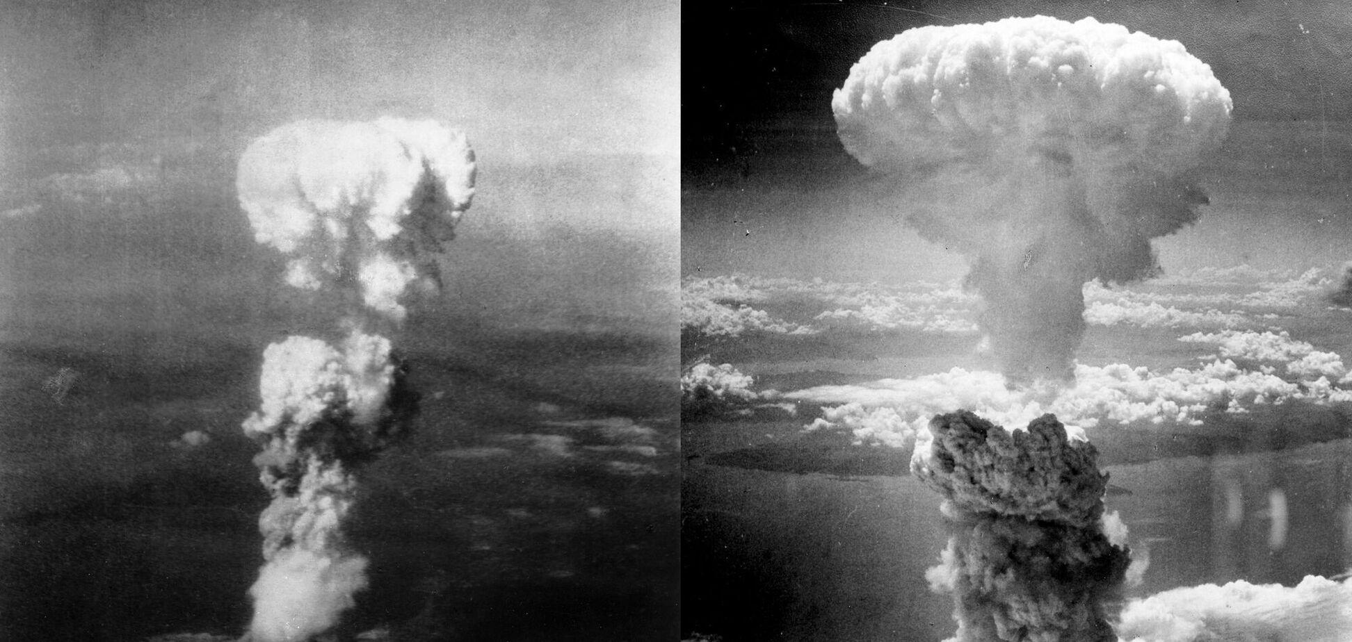 Ядерный гриб над Хиросимой и Нагасаки. Источник: Фото: Wikipedia