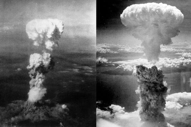 Ядерный гриб над Хиросимой и Нагасаки