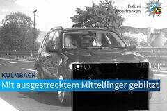 Водителя оштрафовали 75 раз за средний палец. Фото: Facebook Polizei Oberfranken