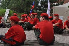 Военно-полевые сборы террористов на Донбассе для детей