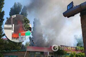 В Затоке вспыхнул пожар на базе отдыха: была угроза взрыва. Видео