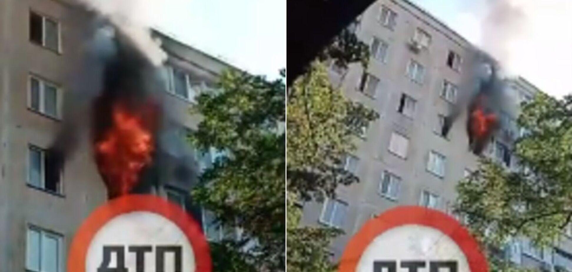 В Киеве на Борщаговке загорелась квартира