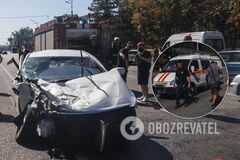 В Днепре подросток за рулем устроил ДТП с грузовиком: куски авто разбросало по дороге. Фото и видео