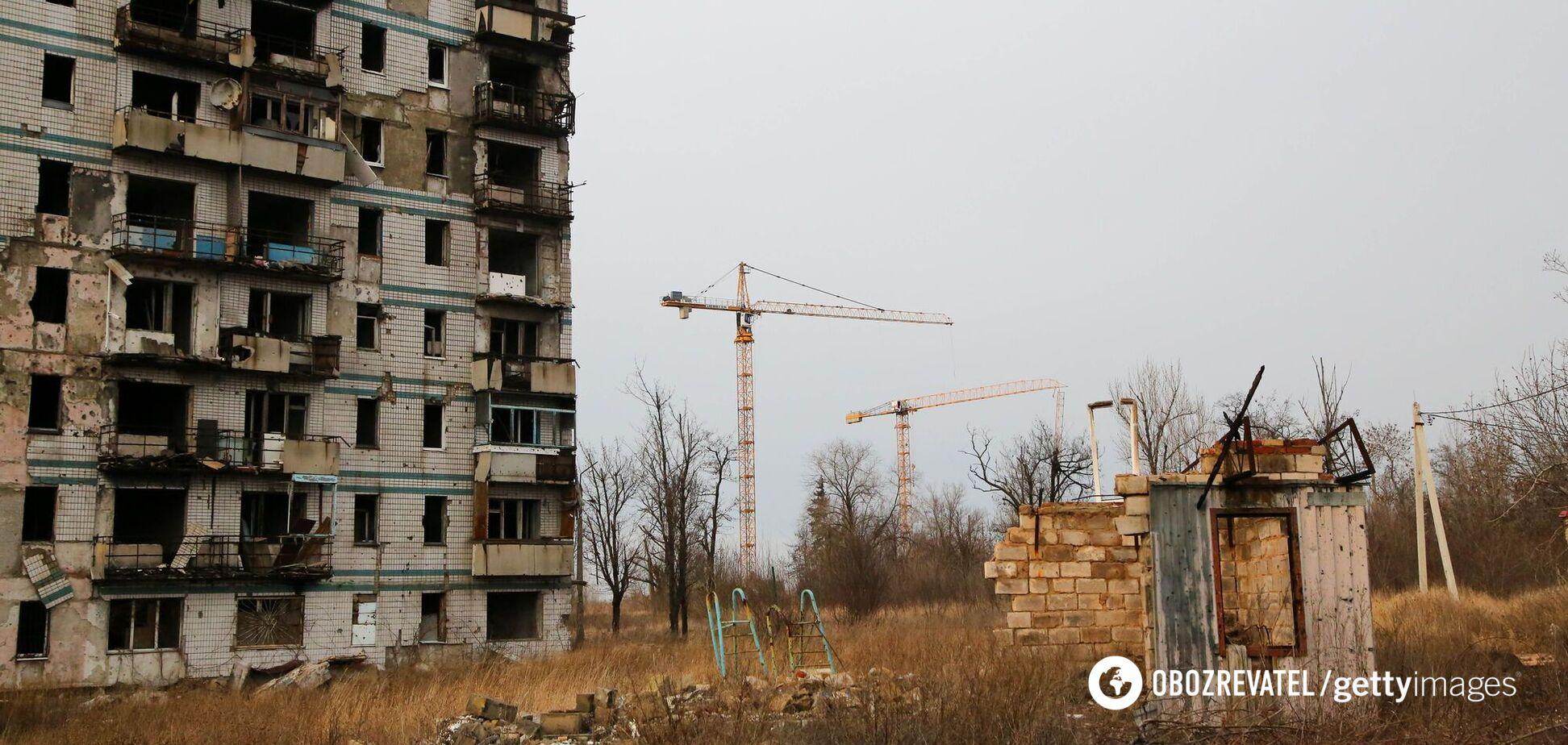 У Зеленського назвали суму, необхідну на відновлення Донбасу