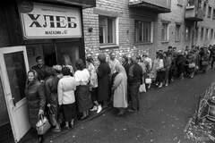 Очередь за хлебом в СССР