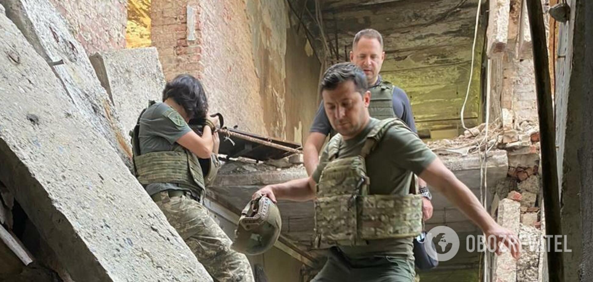 Володимир Зеленський ночував із воїнами на передовій
