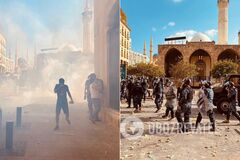 Поліція відтісняє демонстрантів