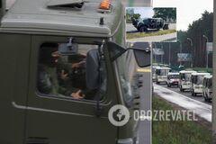 Передвижной водомет и военную спецтехнику заметили на улицах Минска