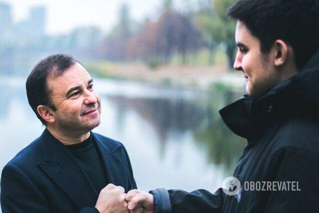 Виктора Павлик с сыном Павлом