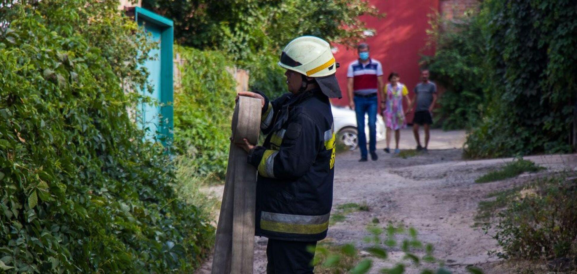 У Дніпрі в результаті пожежі загинув чоловік. Фото з місця НП