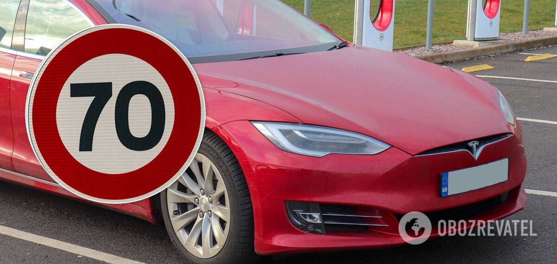 Автомобили Тесла научились распознавать скоростные лимиты