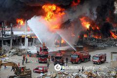 В Бейруте вспыхнул пожар в порту