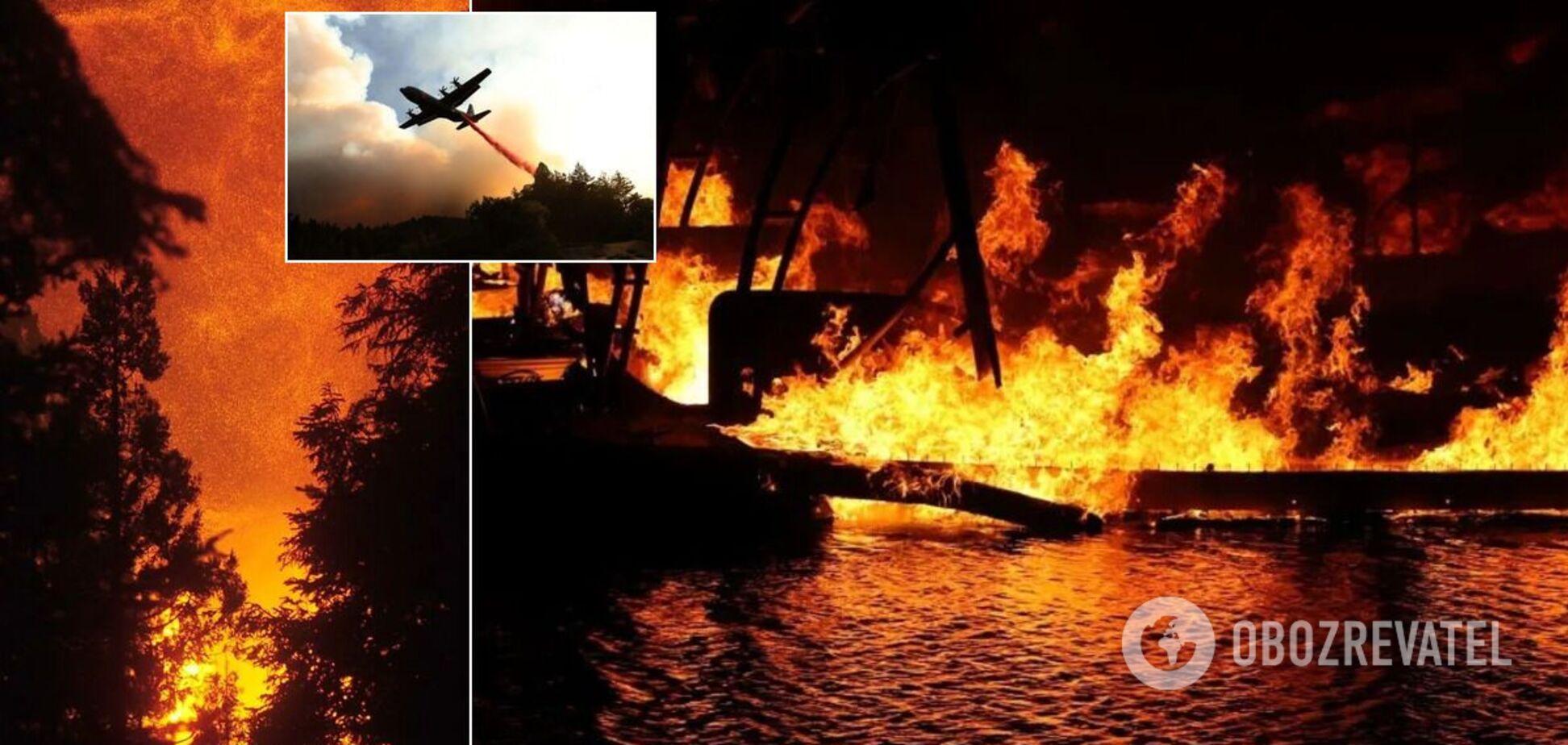 Потужні пожежі охопили три штати США