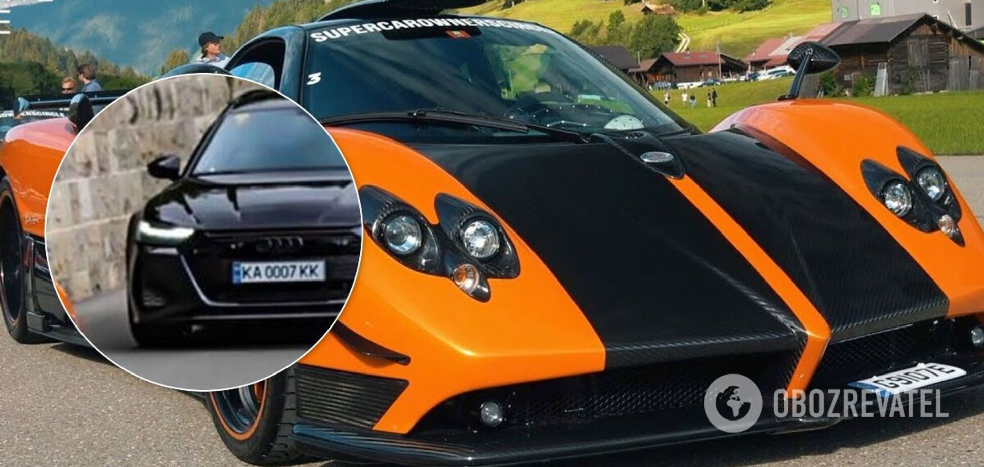 Потужна Audi та рідкісна Pagani зустрілися на дорозі