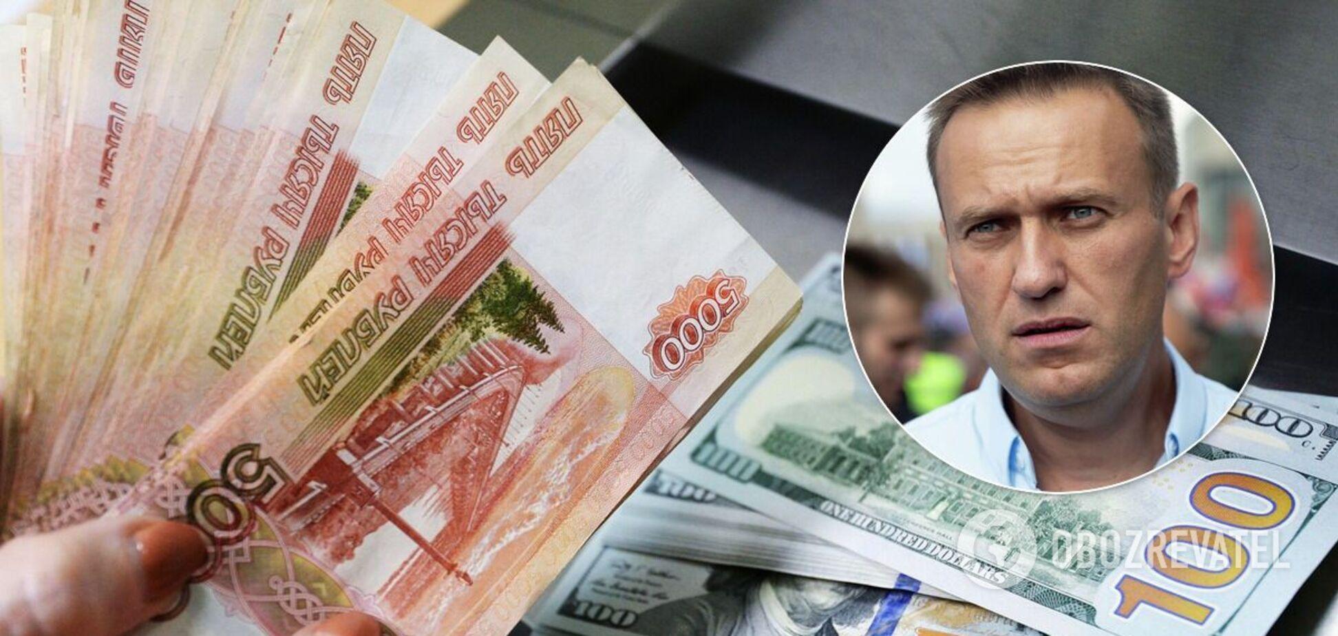 Рубль продовжив падіння через отруєння Навального