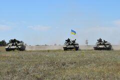 Учения танкистов ВСУ на юге Украины