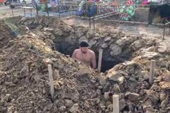 В России устроили соревнования по копке могил на скорость