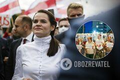 Белорусы отметили день рождения Тихановской