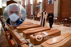 В Бергамо практически каждый житель потерял кого-то из родственников