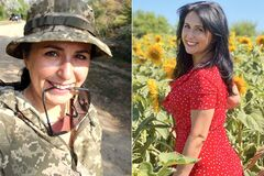 Евгения Шпак была волонтером, а потом пошла в армию. Коллаж