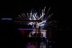 На День города в Днепре впервые показали масштабную светло-лазерную артинсталяцию Dnipro Light Flowers