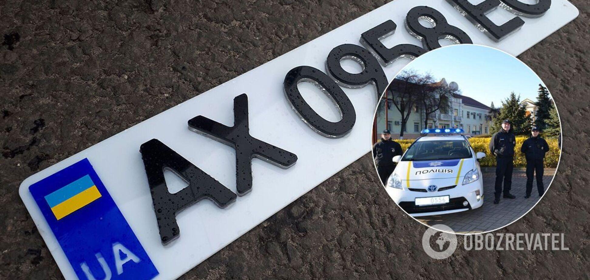 Патрульная полиция начала штрафовать за 3D-номера на авто