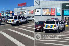 В Харькове заметили полицейское авто на литовских номерах