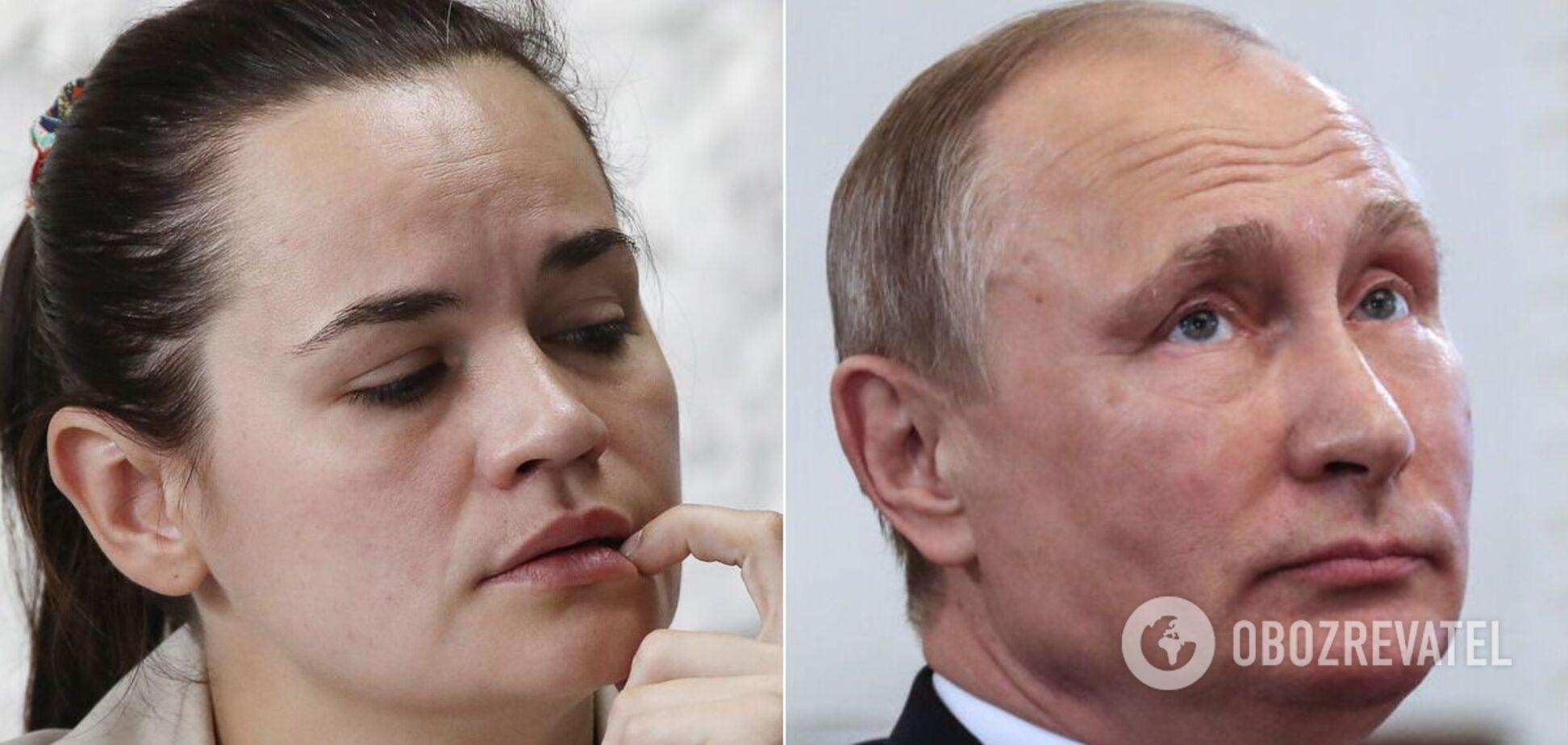 Світлана Тихановська звернулася до Володимира Путіна