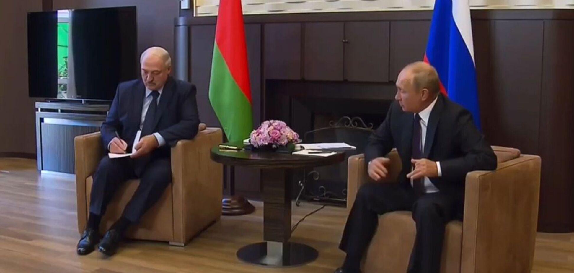 Встреча Путина с Лукашенко: следите за ногами