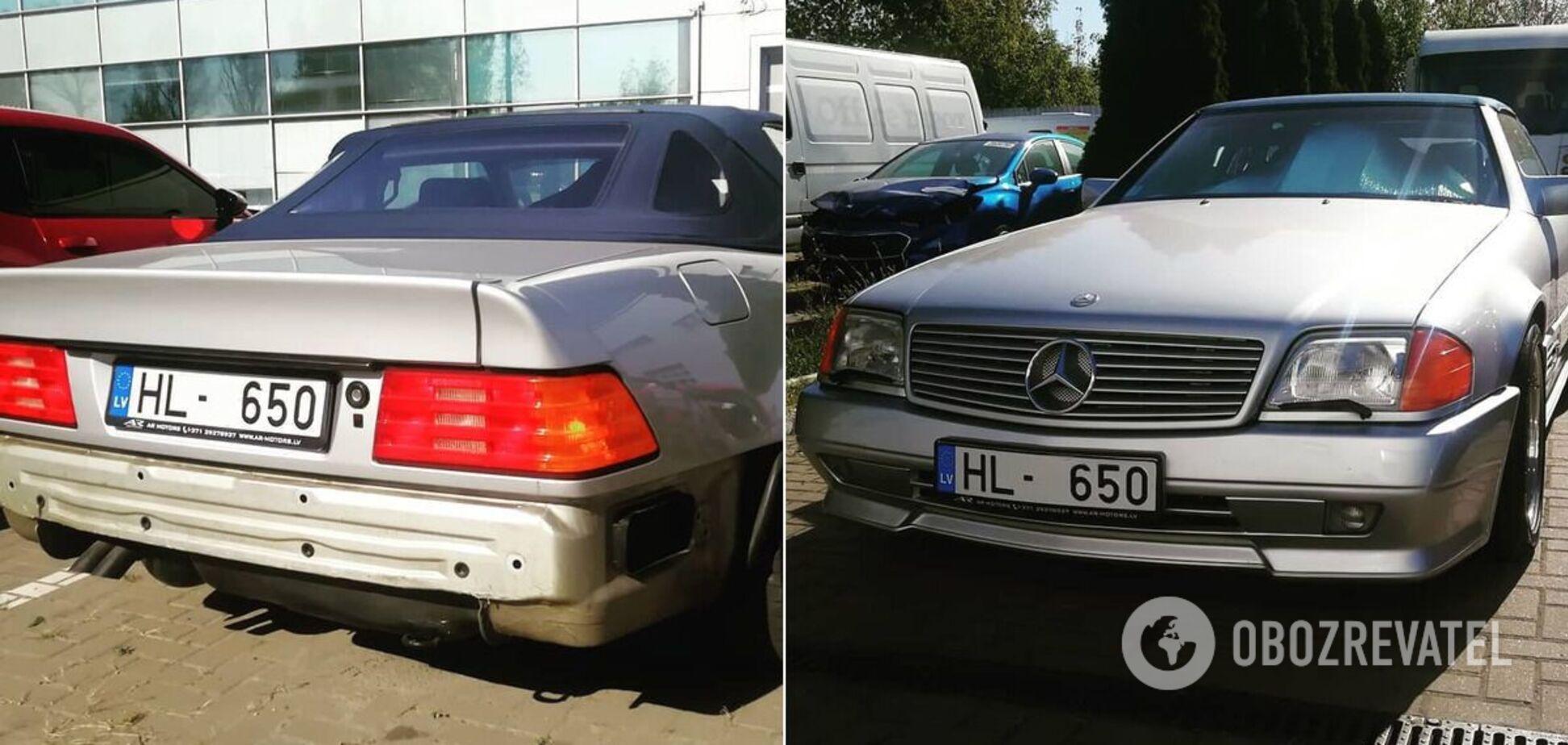Культовый Mercedes на европейских номерах, замеченный в Киеве
