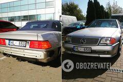 В Украине заметили культовый Mercedes 90-х на еврономерах