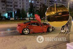 В России неудачный дрифт обернулся аварией BMW M5 и Ferrari