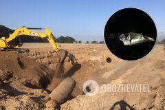 В Киевской области произошел разрыв газовой трубы