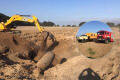 Под Киевом разорвало газопровод