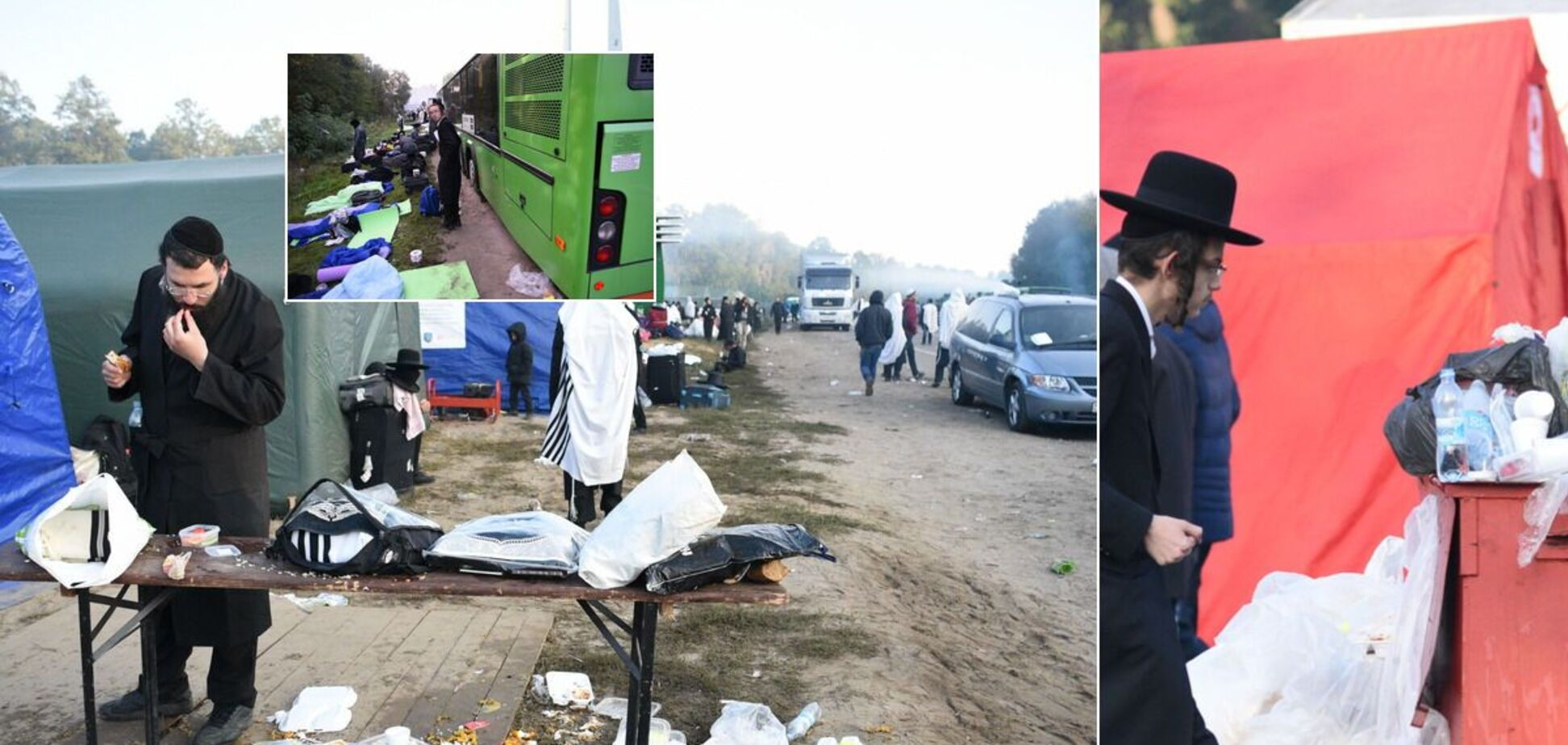 Деякі з хасидів взяли приклад з волонтерів і почали прибирати