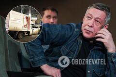 Ефремов врезался в машину службы доставки, ее водитель умер на месте