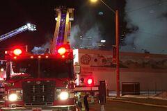 В порту Анконы в Италии вспыхнул масштабный пожар