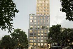 Для отделки фасада Resident Concept House в Киеве разработали эксклюзивную технологию