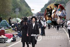 Родные хасидов, которые находятся на границе с Украиной, пришли к дому главы МВД Израиля