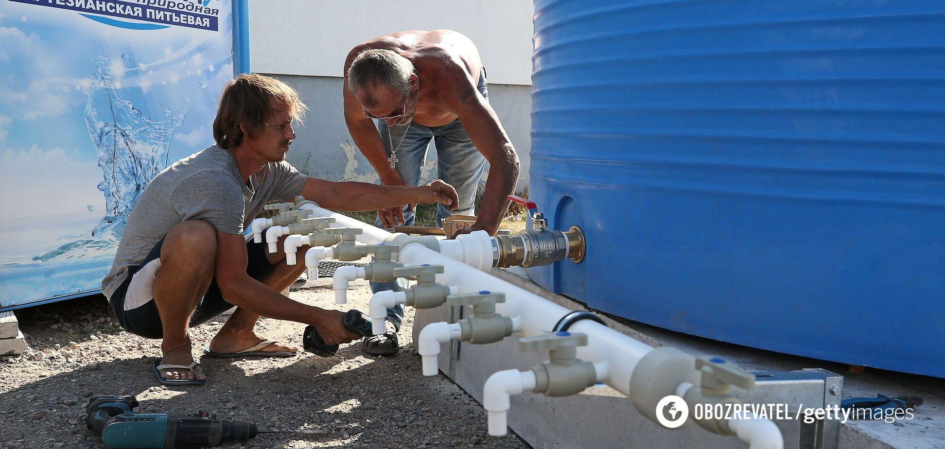 З7 вересня в анексованому Росією Криму ввели погодинне постачання питної води