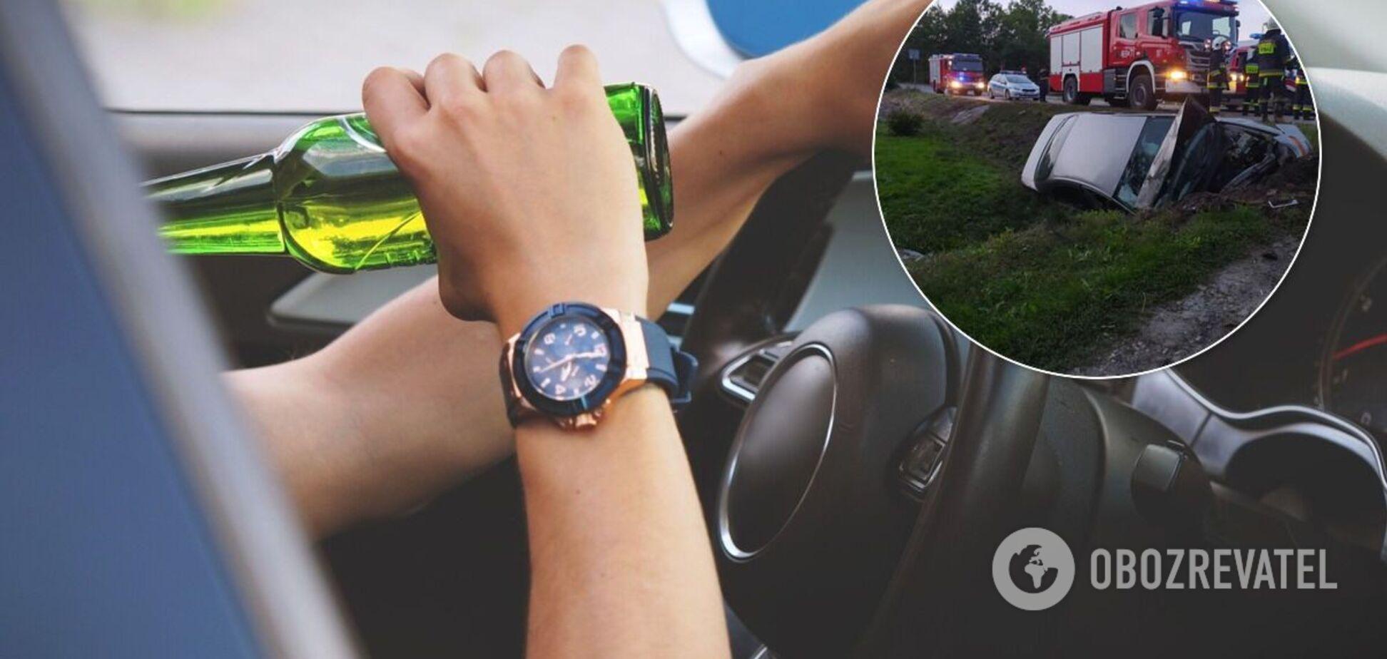 П'яний українець розбив у Польщі автомобіль, який хотів купити