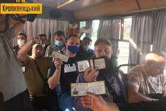Ветераны в Кропивницком проучили недобросовестного маршрутчика